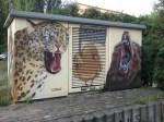 Bemaltes Trafohaus - Ecke August Bebel Str. Feldstr. (c) FRank Koebsch (1)