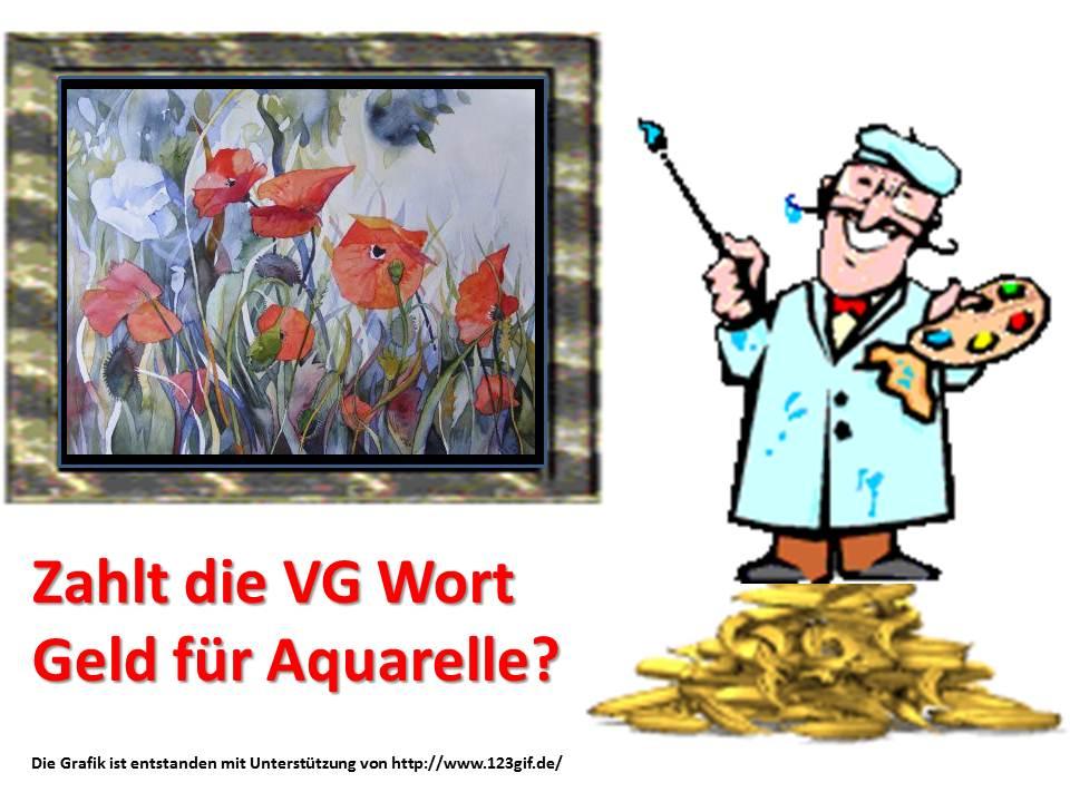 Zahlt die VG Wort Geld für Aquarelle?