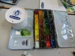 Schmincke Aquarell Farben und Spachtelmasse 1 (c) FRank Koebsch