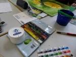 Schmincke Aquarell Farben und Spachtelmasse 2 (c) FRank Koebsch