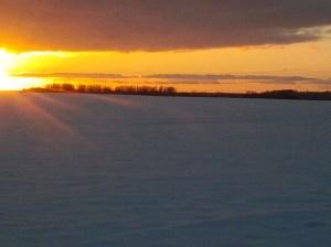Die Sonne färbt den Schnee (c) Frank Koebsch 2