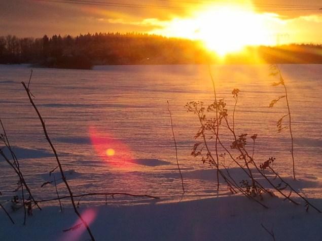 Die Sonne färbt den Schnee (c) Frank Koebsch 3