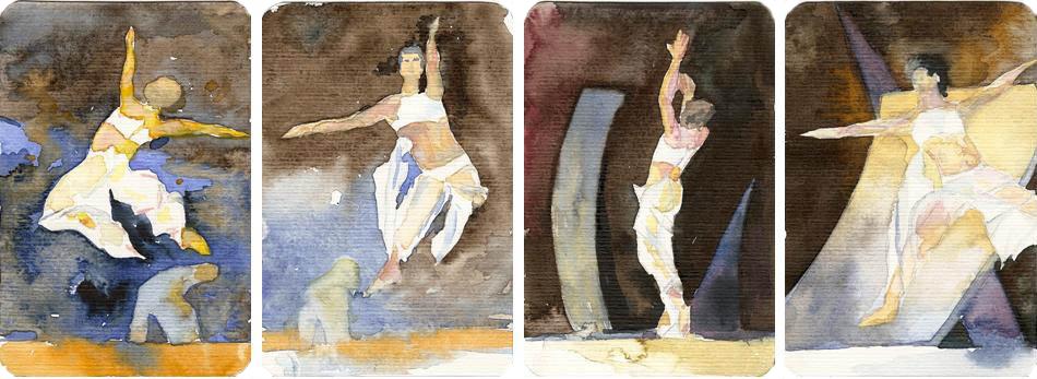 Eleven 1 bis 4 (c) Miniaturen in Aquarell