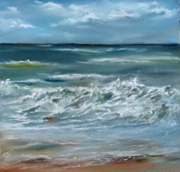 Gischt am Strand (c) Pastell von Hanka Koebsch