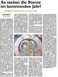 Jahreshoroskop Steinbock