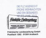 Weihnachtsgrüße der Fränkischen Landeszeitung