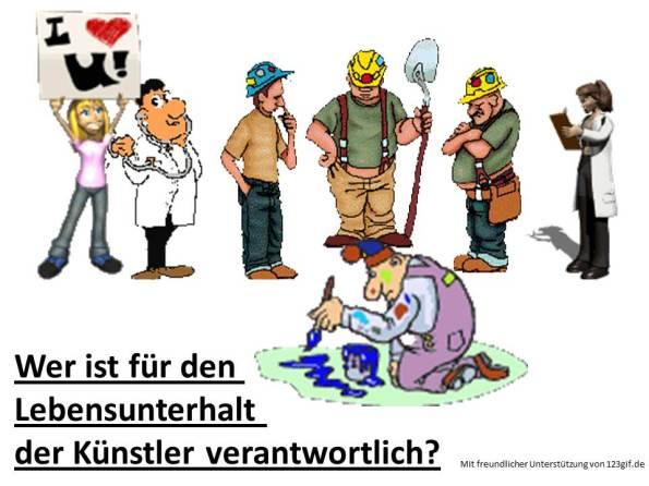 Wer ist für den Lebensunterhalt der Künstler verantwortlich ? (c) Frank Koebsch