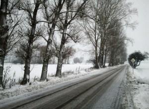 winterliche Straßen in Vorpommern (c) Frank Koebsch 2