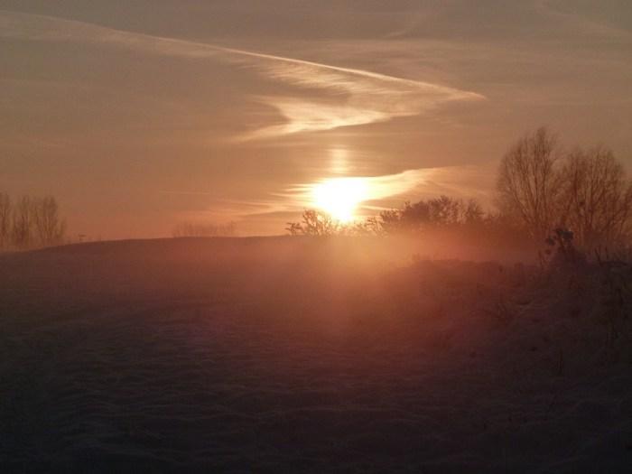 sonnenuntergang mit nebel und - photo #2