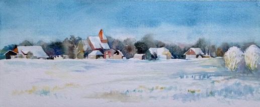 Wintertraum (c) Aquarell von Frank Koebsch