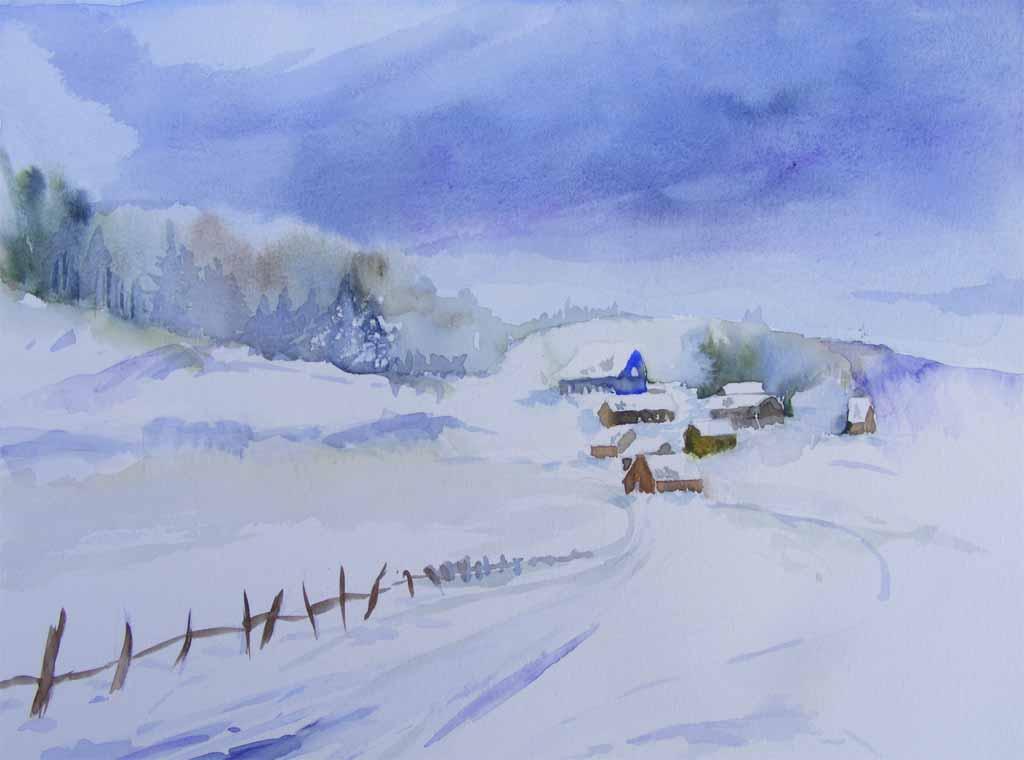Winteraquarelle bilder aquarelle vom meer mehr von - Aquarell weihnachten ...