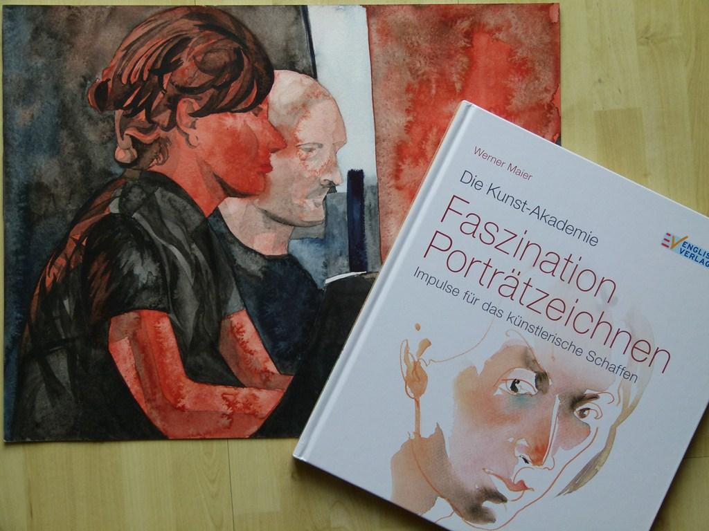Gegensätzliche Lösungen für das Portrait im Aquarell - Frank Koebsch versus Werner Maier