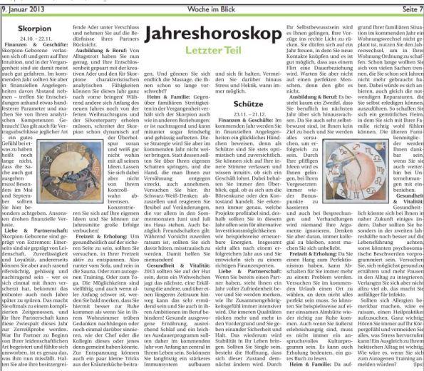 Jahreshoroskope für Schützen und Skorpione