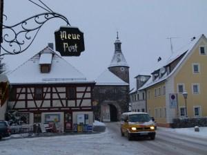 Leutershausen Untere Vorstadt im Winter mit Schnee (c) Frank Koebsch