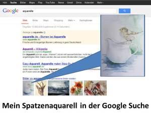 Mein Spatzenaquarell in der Google Suche