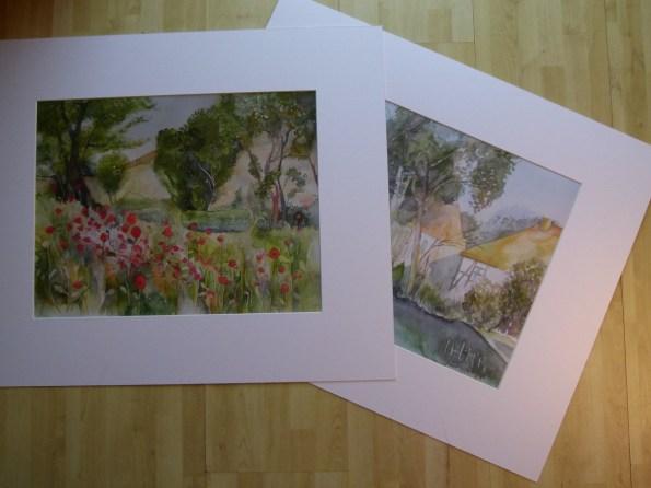 Drucke von meinen Aquarellen (c) Frank Koebsch