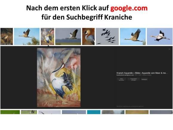 Google.com Bildersuche für den Suchbegriff Kranich (2)