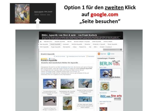 Google.com Bildersuche für den Suchbegriff Kranich - Option 1