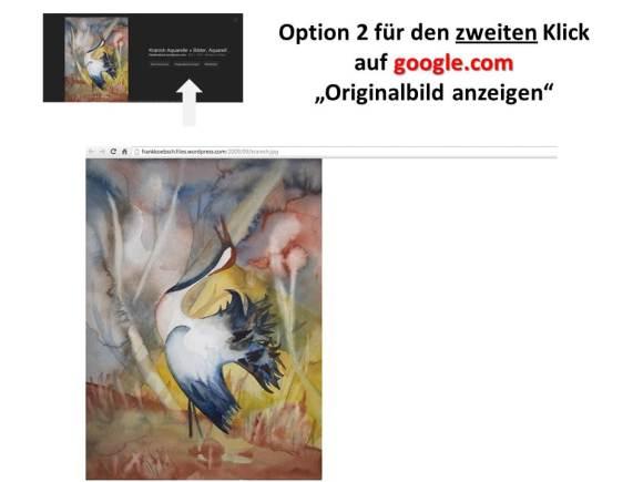 Google.com Bildersuche für den Suchbegriff Kranich - Option 2