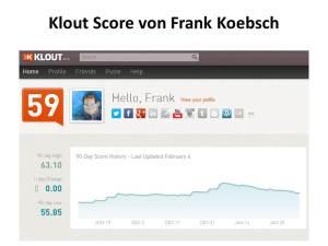 Klout Score von Frank Koebsch