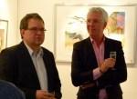 Frank Koebsch berichtet über seine Kranich Aquarelle (c) Maike Josupeit