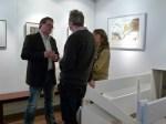 Joachim Knorr und Frank Koebsch diskzieren über das Aquarell (c) Maike Josupeit