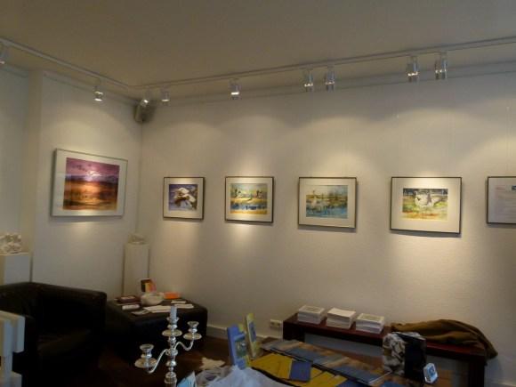 Kranich Aquarelle in der Galerie FASZINATION ART (c) Frank Koebsch (1)