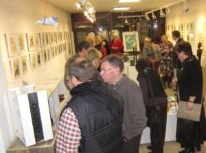 Kurz vor der Ausstellungseröffnung in der Galerie Severina (c) Susanne Haun