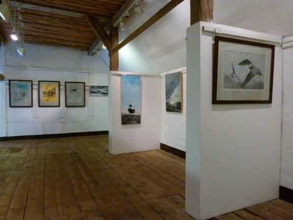 Blick in die Sonderausstellung von Jens Hamann in Schwerin Mueß (c) Frank Koebsch