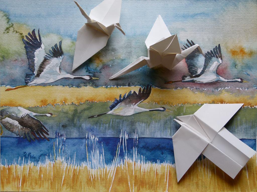 Faszination Kraniche – ein Einladung zum Basteln und Malen