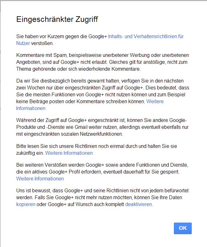 Google+ ist eine Maschine und bevormundet die Netzgemeinde