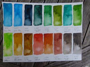 Palette der Aquarellfarben von Mijello (c) FRank Koebsch (1)