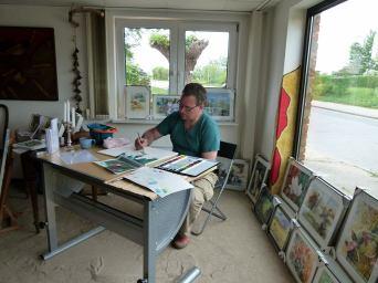 Frank Koebsch bei Kunst Offen in der Kunstscheune Rethwisch