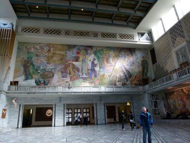 Wandgemälde im Rathaus von Oslo (c) Frank Koebsch (1)