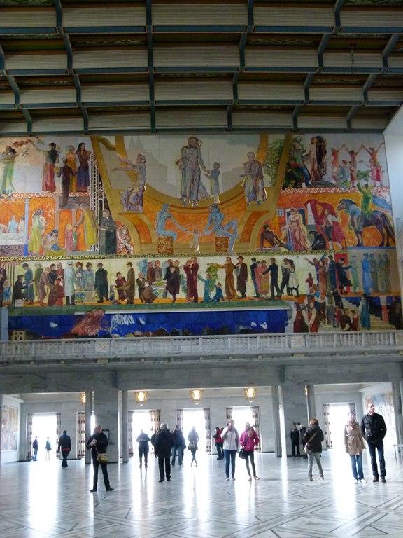 Wandgemälde im Rathaus von Oslo (c) Frank Koebsch (2)