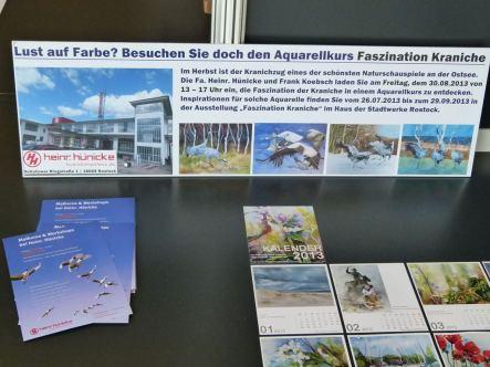 Aquarellkurs Faszination Kraniche von Frank Koebsch bei der Fa. Heinr. Hünicke