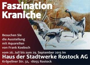 Ausstellung Faszination Kraniche im Haus der Stadtwerke Rostock