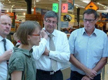 Christine Steidler im Gespräch mit Jens Fischer, Dr. Wolfgang Kraatz und Herrn Math (c) Frank Koebsch
