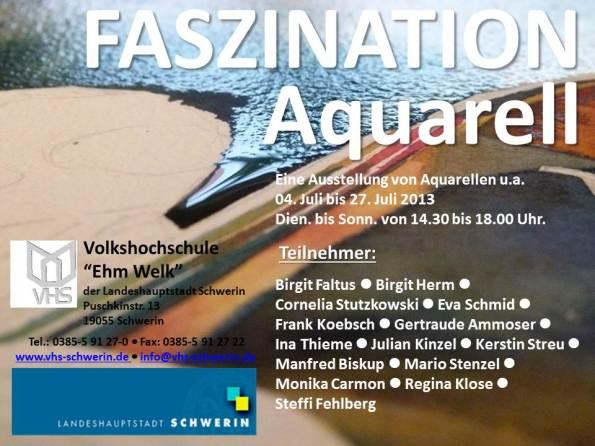 "Ausstellung ""Faszination Aquarell"" in der MV-Fotogalerie"