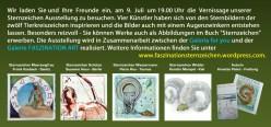 Flyer für die Sternzeichen Ausstellung in der Rostocker Altstadt Galerie (2)