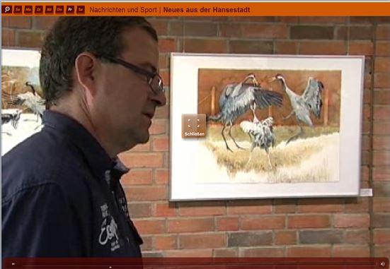 Frank Koebsch bei der Eröffnung der Ausstellung Faszination Kraniche (c) tv.rostock (1)