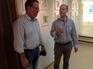Im Gespräch - Frank Koebsch und Jürgen Möller (c) Altstadt Galerie
