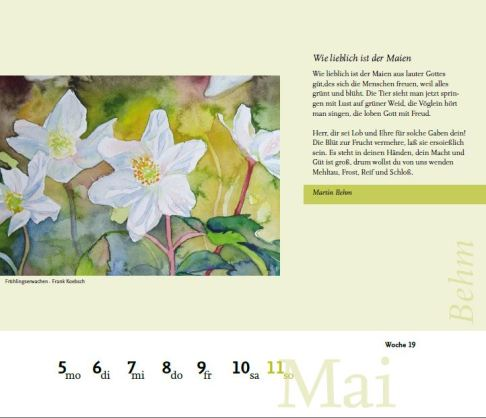 Kalenderblatt 19. Kalenderwoche 2014 - Gebetekalender Präsenz Verlag