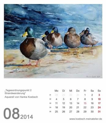Kalenderblatt August 2014