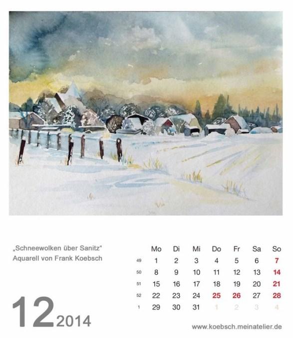 Kalenderblatt Dezember 2014