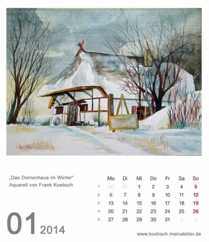 Kalenderblatt Januar 2014