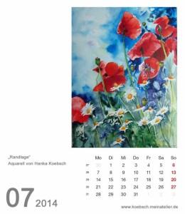 Kalenderblatt Juli 2014