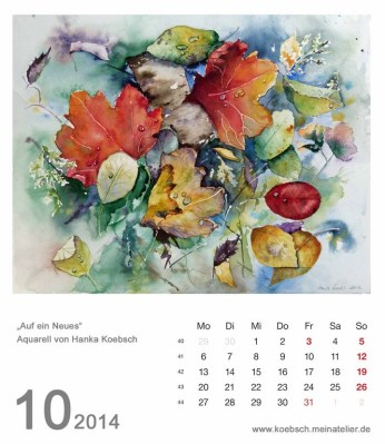 Kalenderblatt Oktober 2014