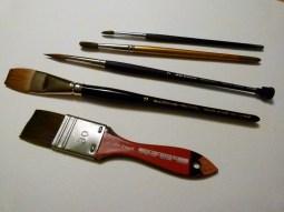 Meine Aquarellpinsel (c) Frank Koebsch