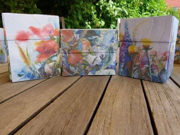 Origami Faltschachteln mit Motiven unserer Aquarelle (c) Frank Koebsch (5)